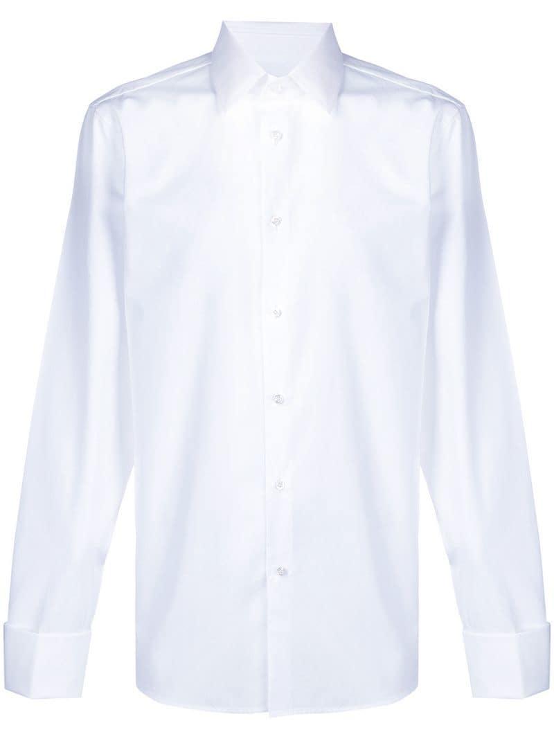 0fbc8d13a33 Lyst - Gucci Classic Plain Shirt in White for Men