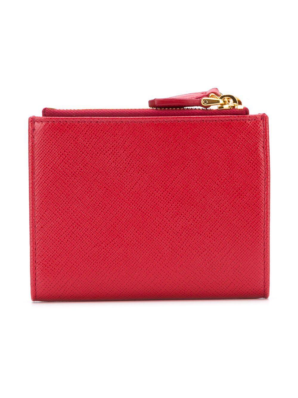 a7265835011a Prada - Red Saffiano Wallet - Lyst. View fullscreen