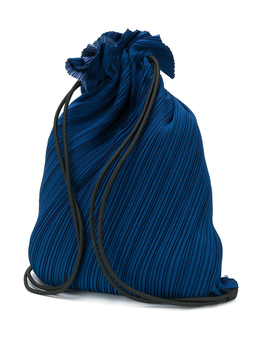 8b506658221d Lyst - Pleats Please Issey Miyake Textured Drawstring Bag in Blue