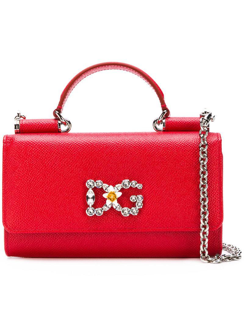 2de38cac1ff Dolce & Gabbana Sicily Von Mini Tote Bag in Red - Lyst