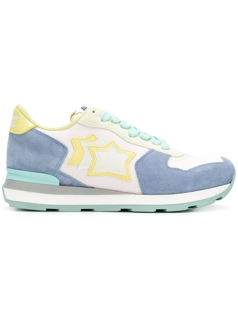 order 2014 unisex cheap online Atlantic Stars colour block sneakers with star patches iCmktB8