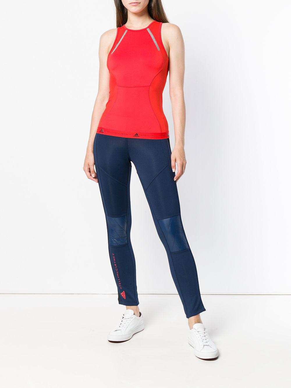 84b069b61feb Adidas By Stella McCartney - Red Fitted Running Tank Top - Lyst. View  fullscreen