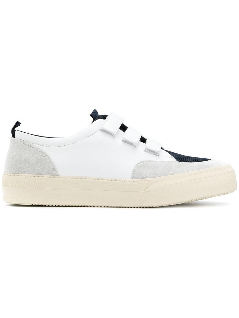 Palm Angels strap detail distressed sneakers - Black farfetch bianco