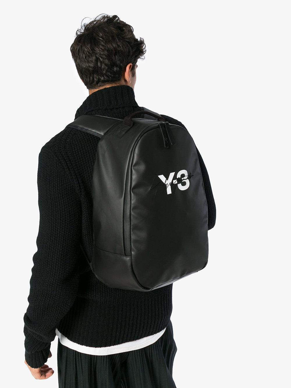 Lyst - Y-3 Black Logo Bag in Black for Men - Save 60% c8f7a27d7aeb4