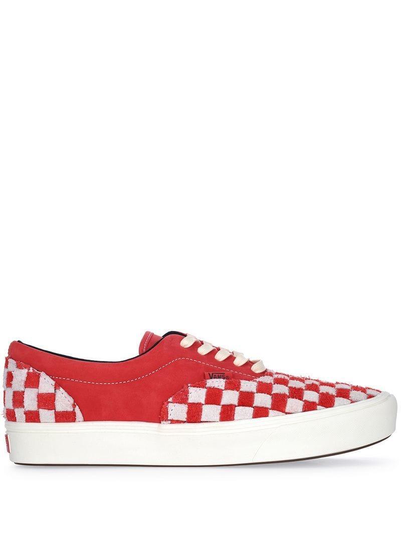 b02258af186 Vans Checkered Low Tops in Red for Men - Lyst