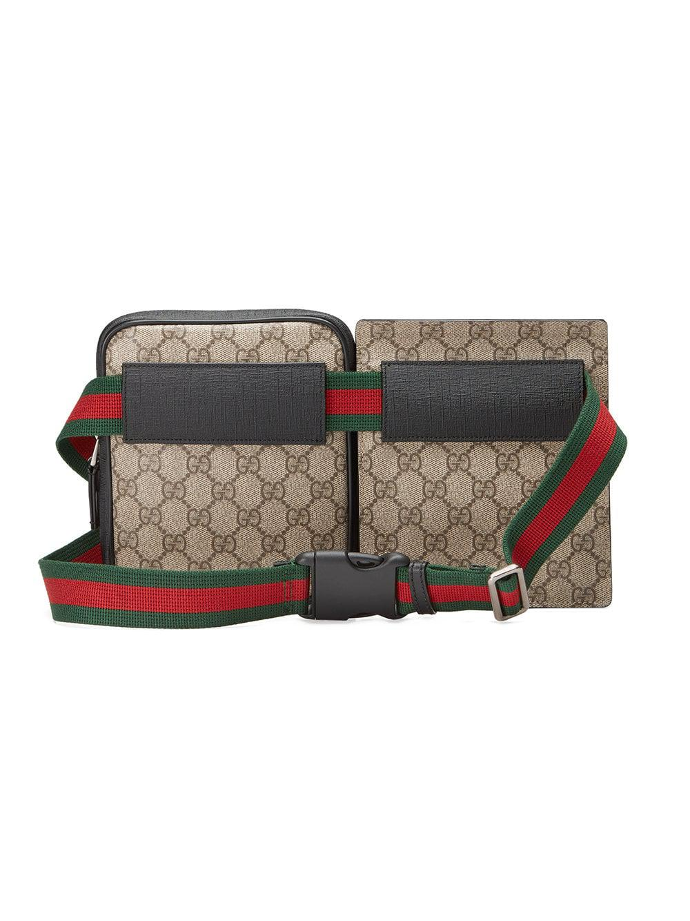 232031a870 Sac ceinture en toile Suprême GG Gucci pour homme - Lyst