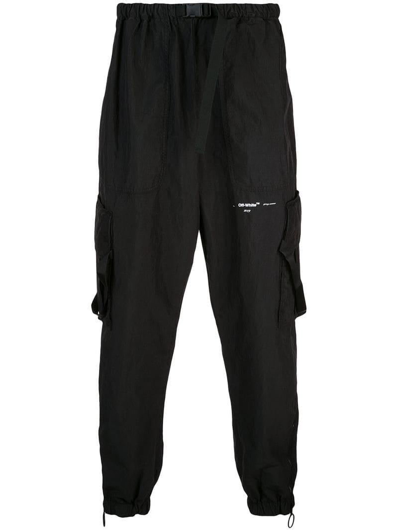 9760d069e275 Lyst - Off-White C O Virgil Abloh Drop-crotch Trousers in Black for Men
