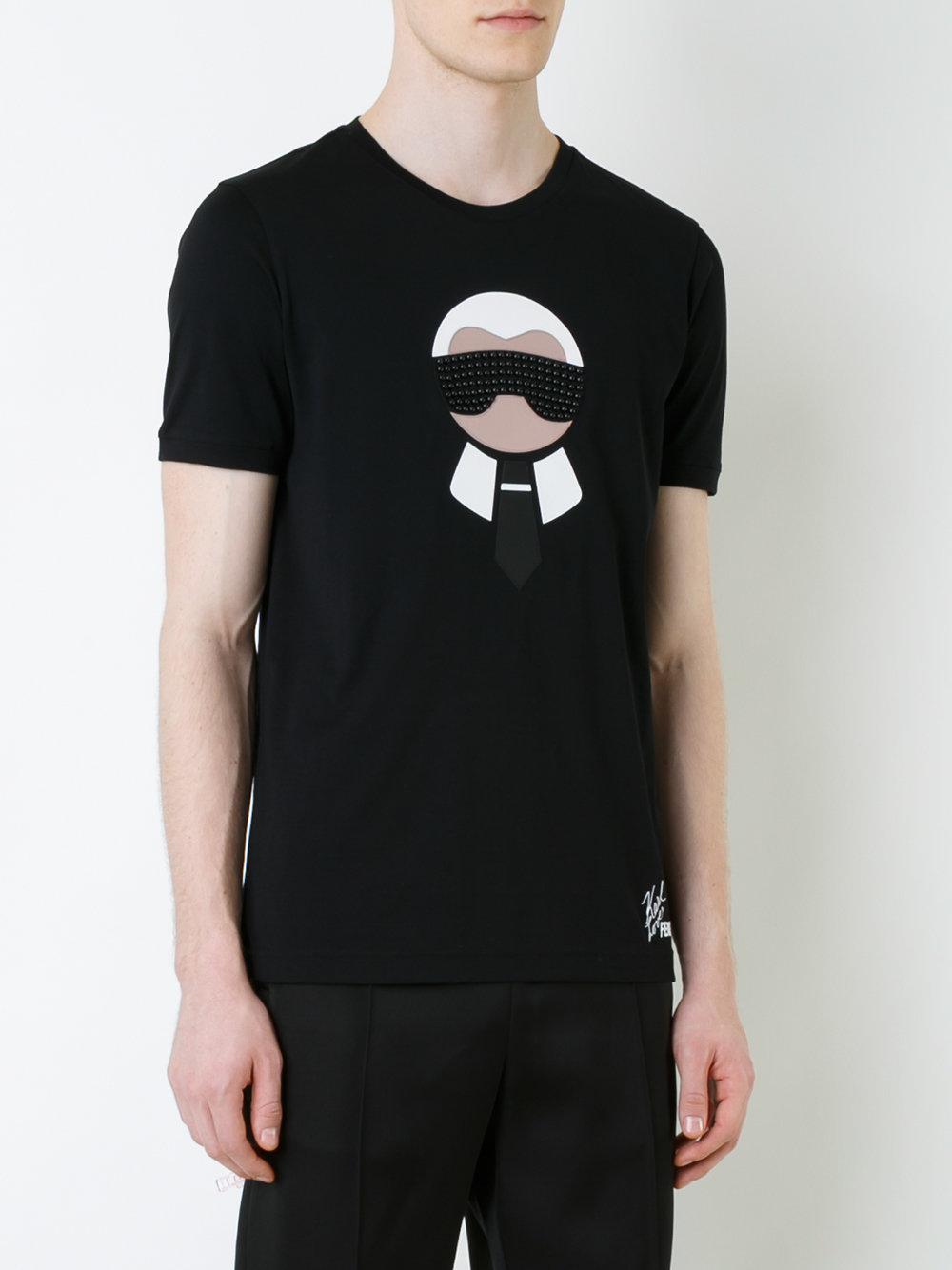 Karl T Homme Pour Shirt Noir Fendi Loves Coloris En Lyst qATPwRw