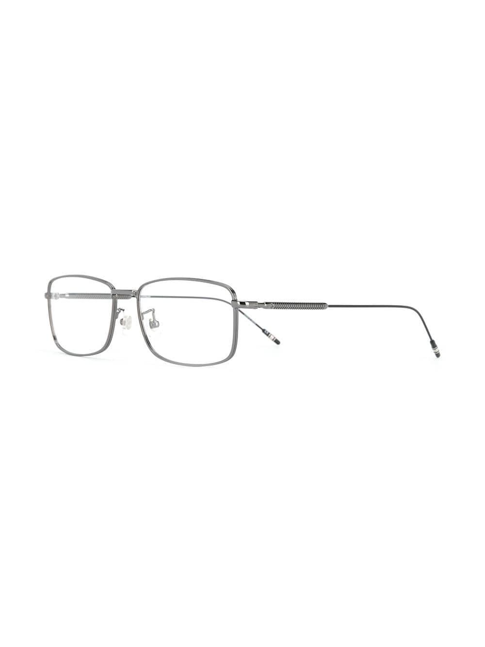 c766315a62 Montblanc - Black Rectangular Frame Glasses - Lyst. View fullscreen