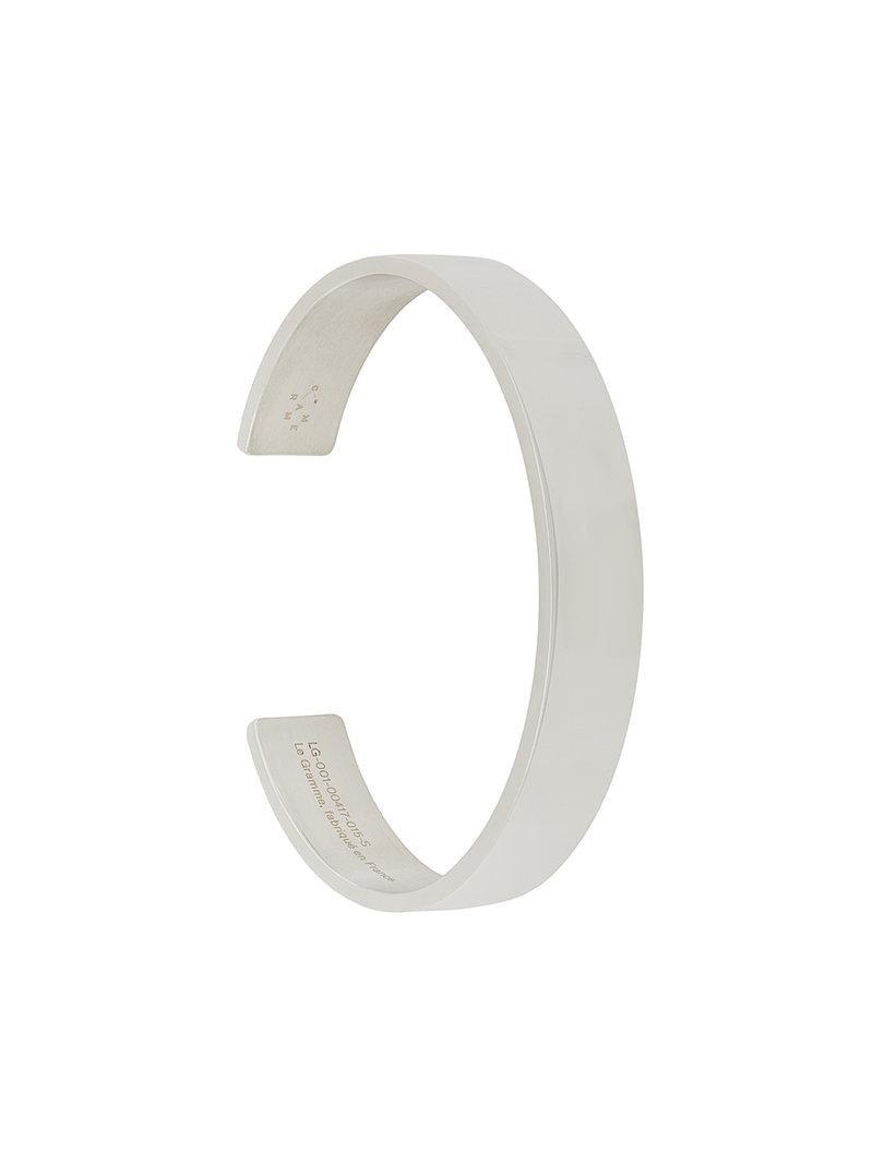 41 grams polished cuff - Metallic Le Gramme dErbEEfG9