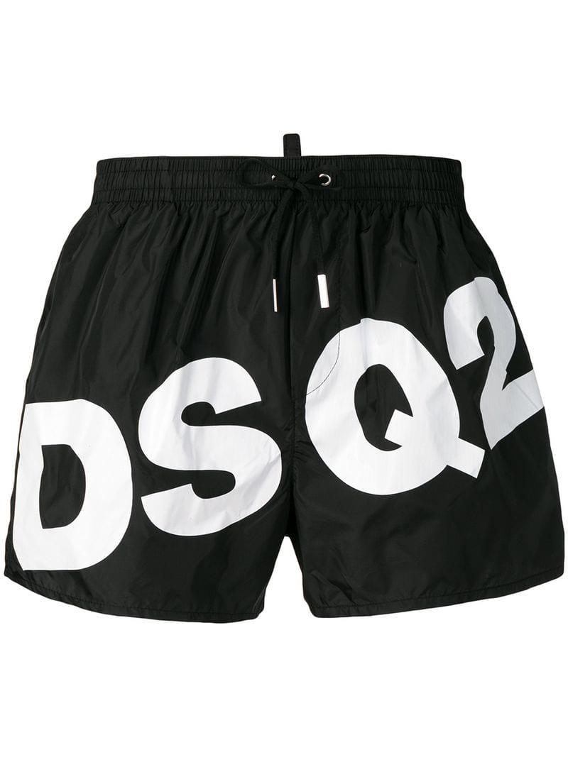 6c9f574047 Lyst - Dsquared² Logo Swimming Shorts in Black for Men