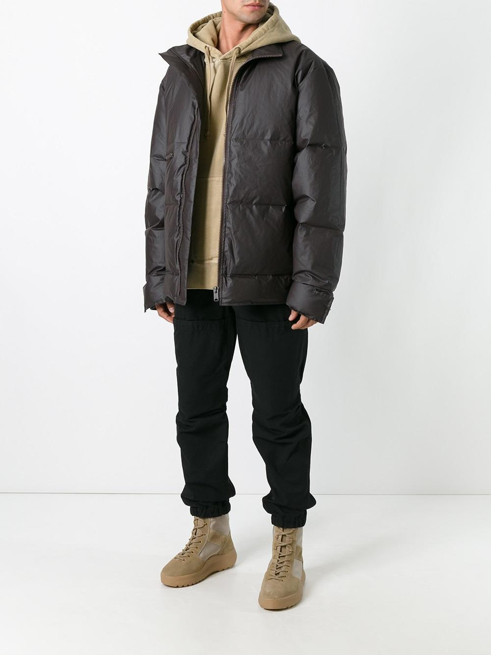 Yeezy Season 3 Short Padded Coat in Brown for Men | Lyst