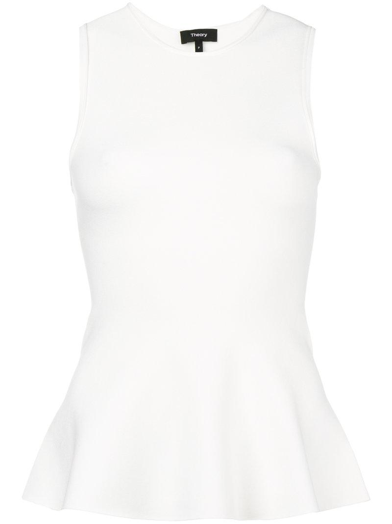 Buy Cheap Cheapest Price flared fitted vest - White Theory Cheap Sale Amazing Price GuIKSrE