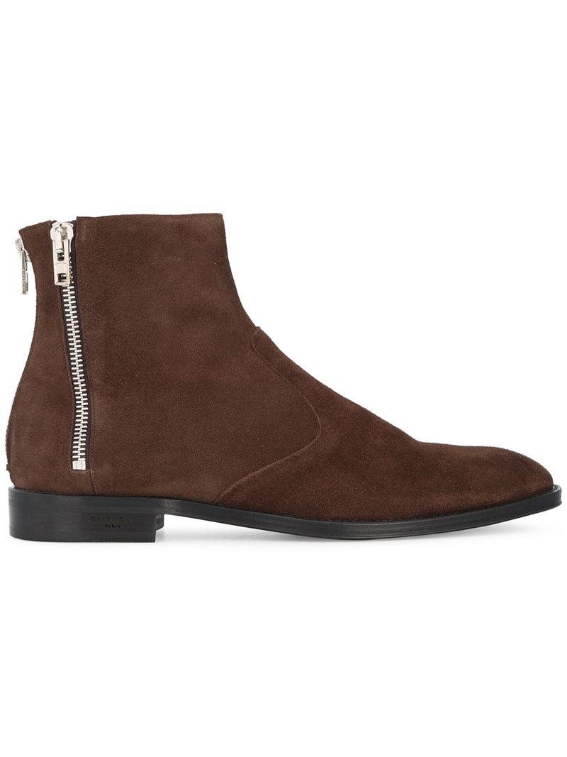Givenchy Brown Nubuck Chelsea Boots bnUxavd3k