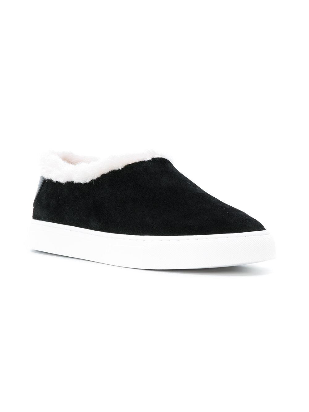 2a21c48fc37 Lyst - Tory Burch Miller Shearling Sneakers in Black