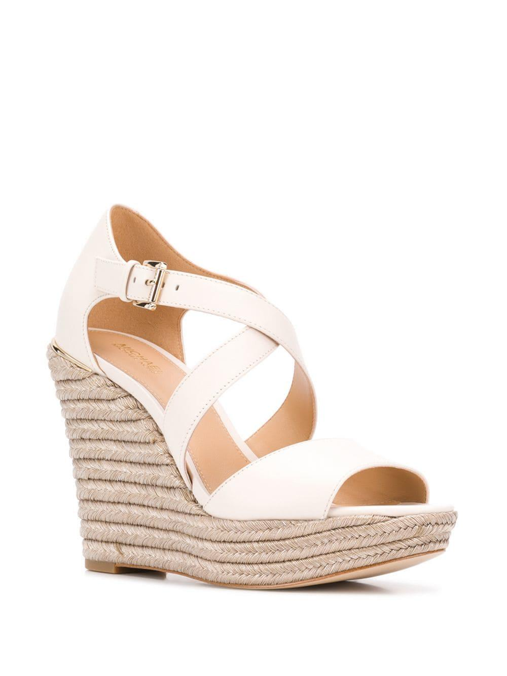 b45909a60f4 MICHAEL Michael Kors - Multicolor Wedge Sandals - Lyst. View fullscreen