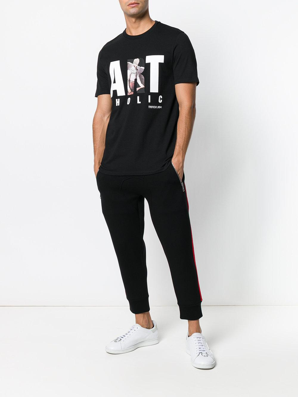 fc90ef8ac Lyst - Neil Barrett Artoholic Printed T-shirt in Black for Men - Save 54%