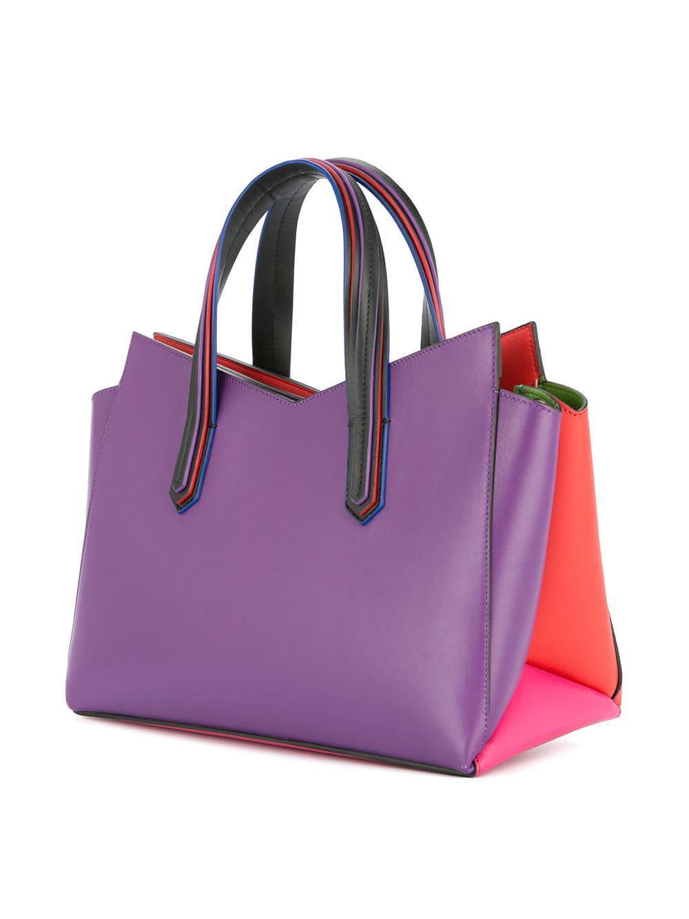 Colour Battaglia Tote Sara Lyst Bag Block FEHnnxA