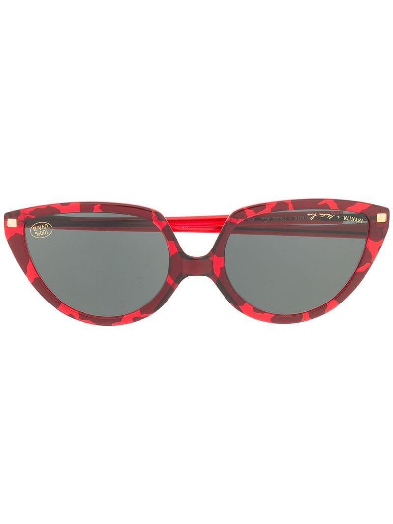 74617edf17a Mykita X Martine Rose Sos Sunglasses in Red - Lyst
