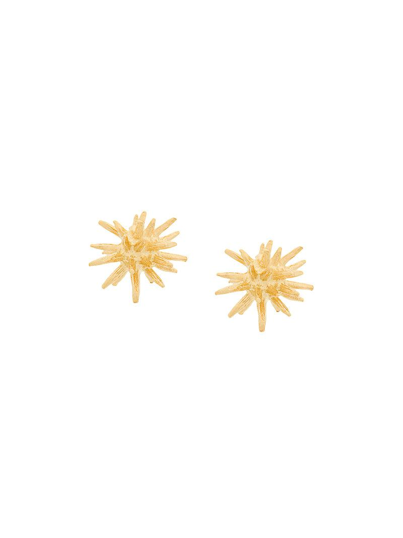 Wouters & Hendrix My Favourite spike stud earrings - Metallic KxsYIJx