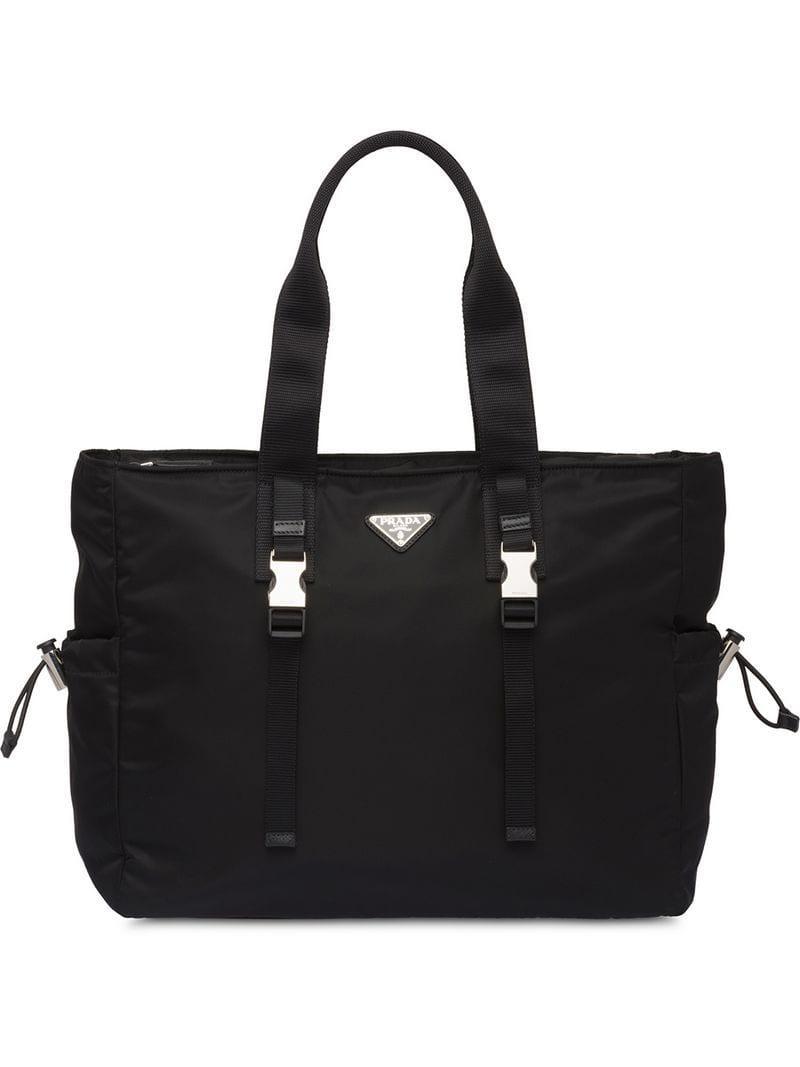 Prada - Black Fabric Tote Bag for Men - Lyst. View fullscreen 1531ba4ece355