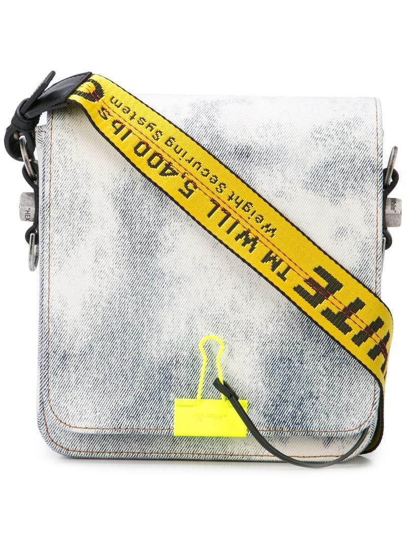 00300ffd7fe7 Off-White c o Virgil Abloh Binder Clip Denim Messenger Bag in Blue ...