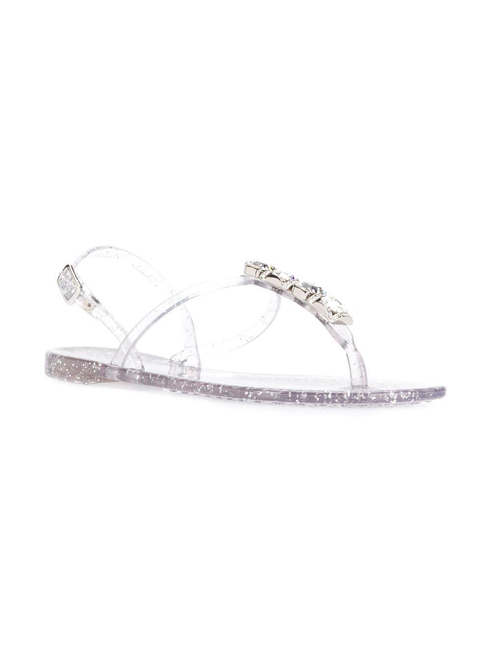 7840048a9cb Lyst - Casadei Jelly Sandals in Metallic