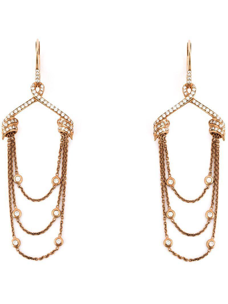 Stephen Webster draped diamond earrings - Pink & Purple rcFR5Mjtok