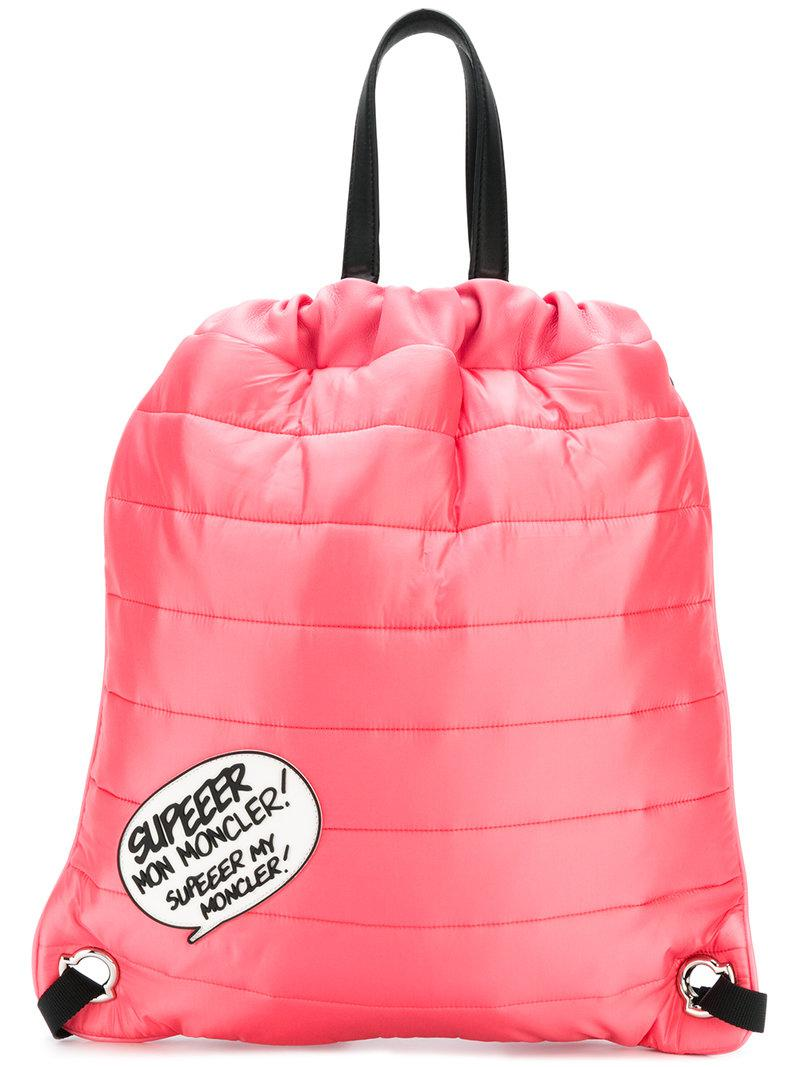 2018 Discount Geniue Stockist Moncler quilted drawstring backpack Discount Wholesale Outlet Amazon Latest Ccc2ZAn