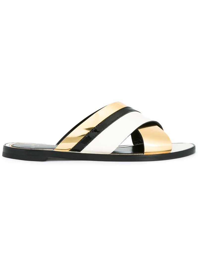 criss cross strap sandals - Nude & Neutrals Lanvin 4qNz87eg