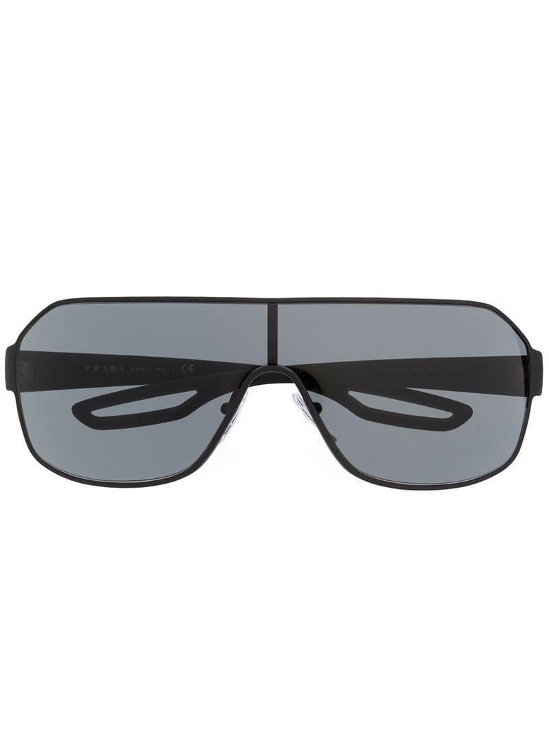 aeec08028f Prada - Gray Gafas de sol estilo aviador for Men - Lyst. Ver en pantalla  completa