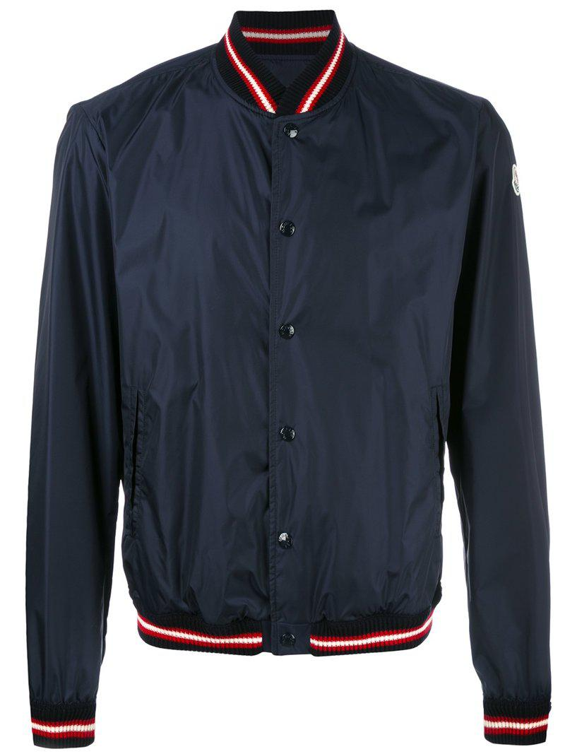 Moncler. Men's Blue Dubost Bomber Jacket