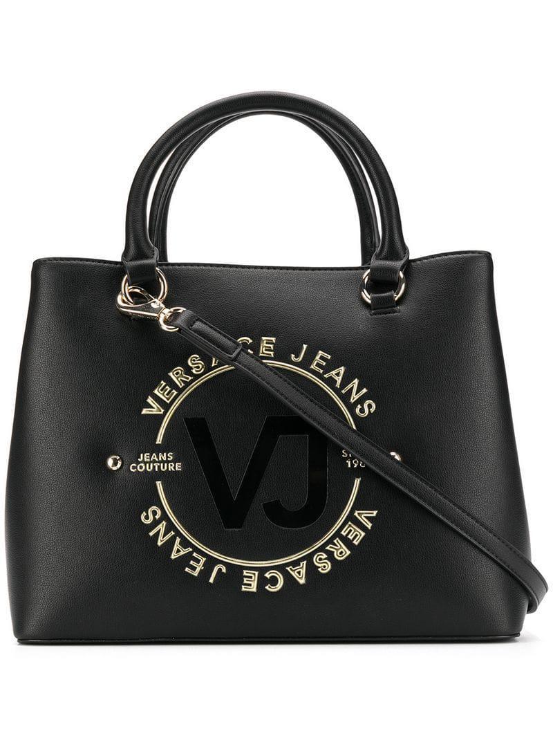 Versace Jeans Logo Tote Bag in Black - Lyst d88b8f0d55a38