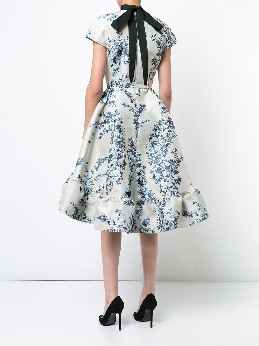 short-sleeve floral dress - Grey Fendi oM3fp