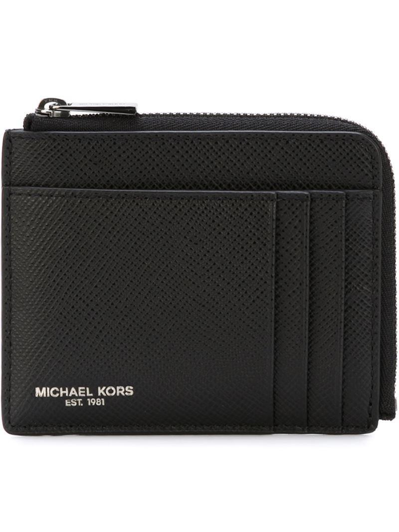 79a8dde47f44 Michael Kors Zip Around Wallet in Black for Men - Lyst