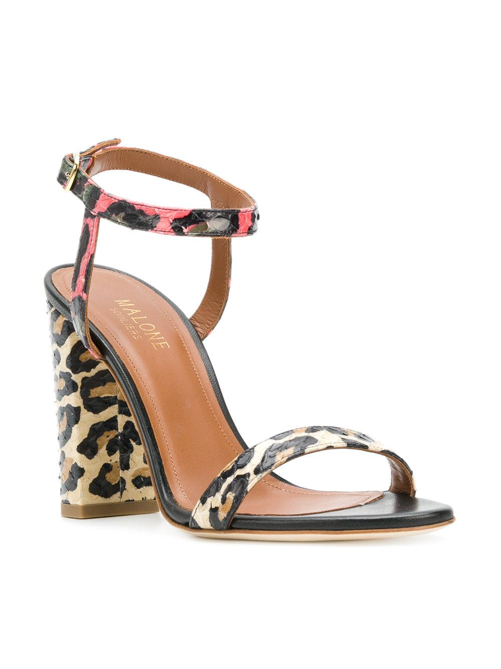 supply cheap online Malone Souliers animal print sandals discount perfect hTPcSFvHGy