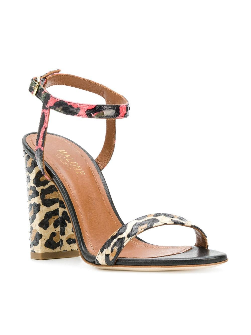 Malone Souliers animal print sandals buy cheap footaction supply cheap online buy cheap low shipping G3sjVk