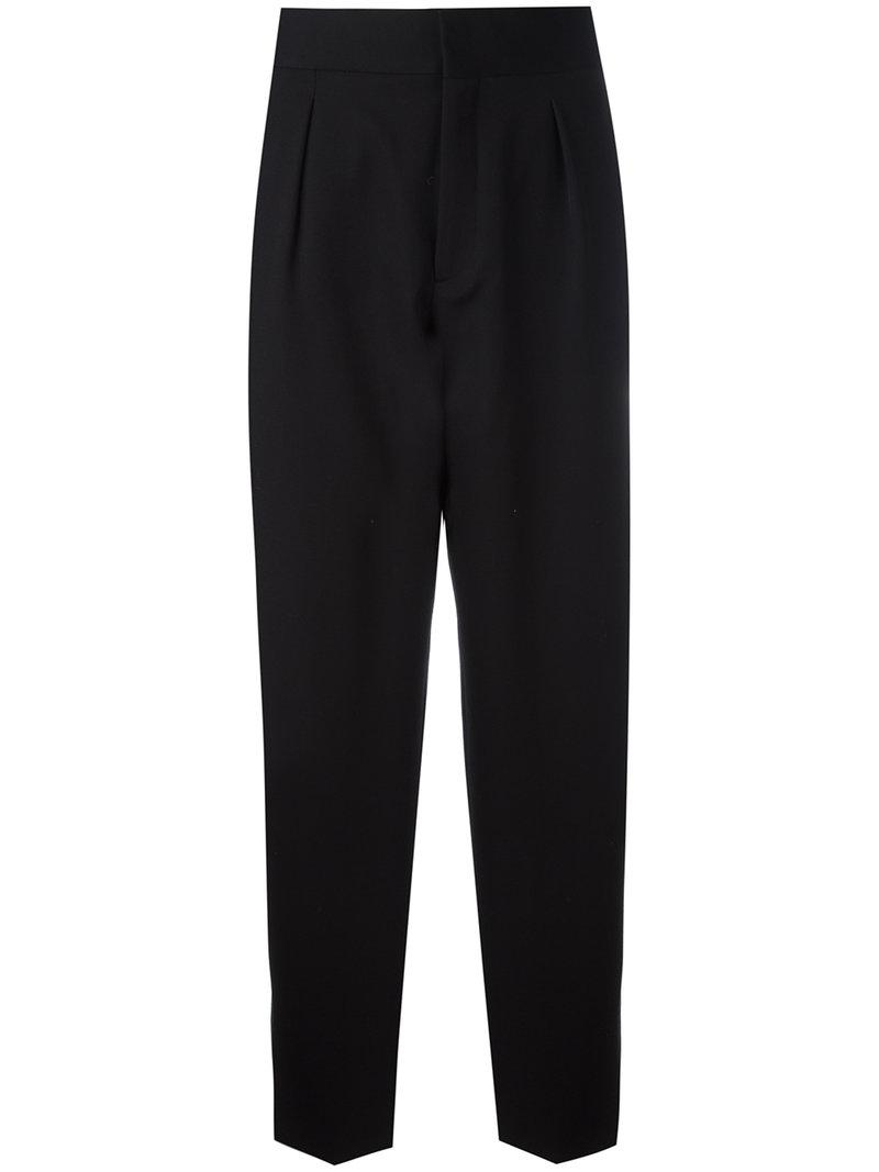 Saint Laurent tapered flared cuff trousers