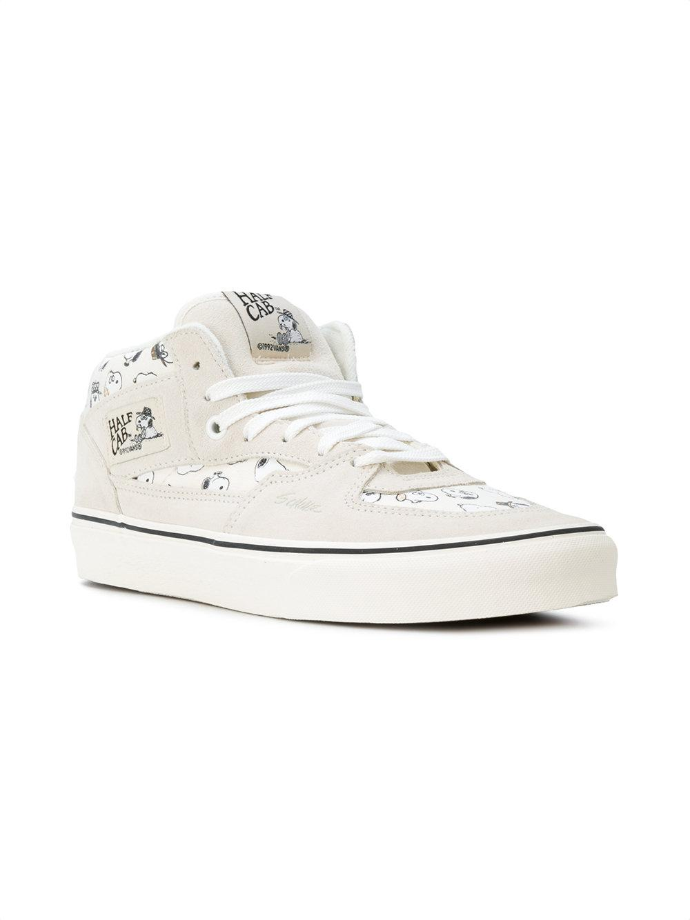 9d352d930e Lyst - Vans Half Cab Snoopy Sneakers in White for Men