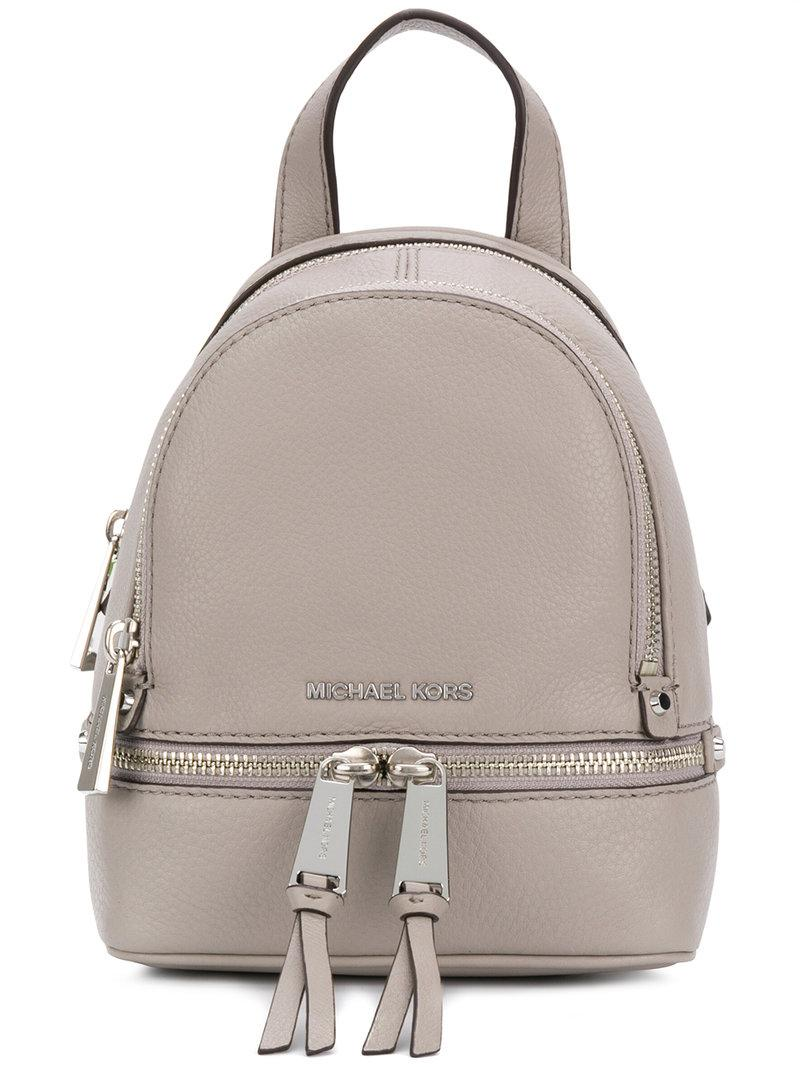 511c7aa0c389 Womens Gray Rhea Extra Small Backpack MICHAEL MICHAEL KORS Womens Rhea Zip  Extra Small Messenger ...
