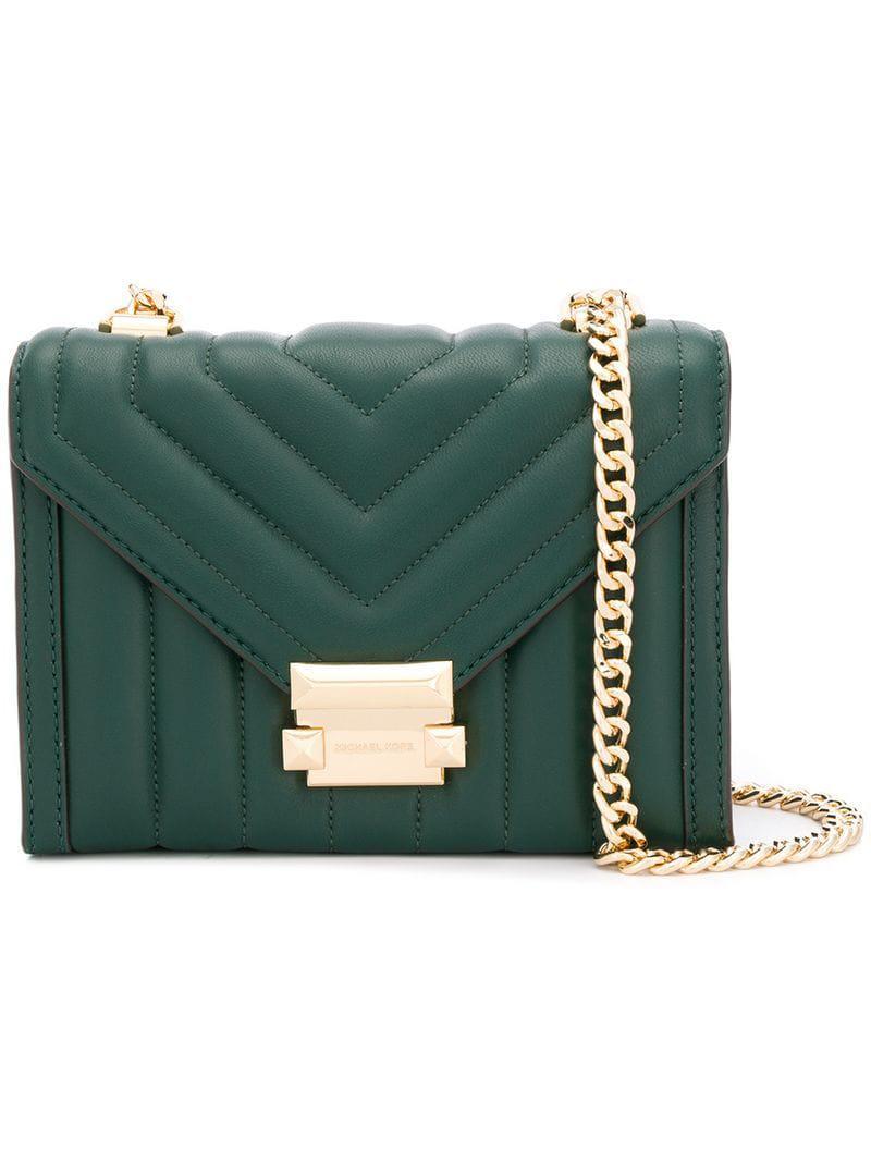 0310ea64046ec Michael Michael Kors Whitney Small Shoulder Bag in Green - Lyst