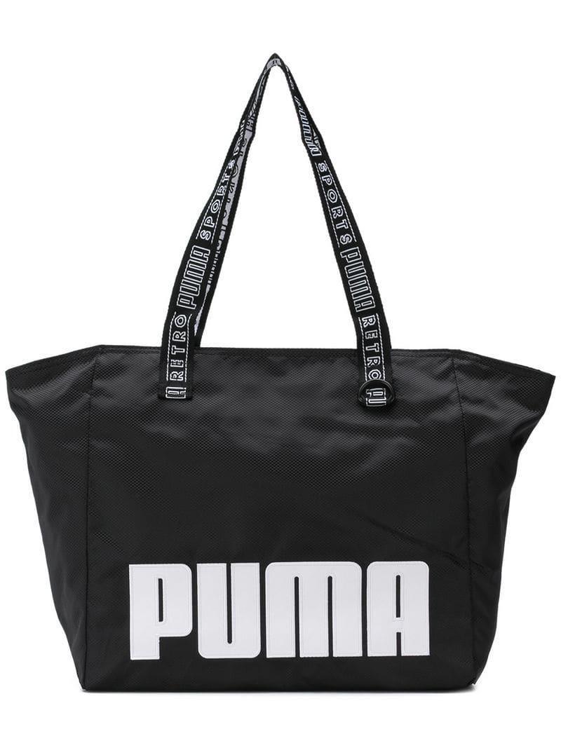 1654f800085 PUMA Sport Tote Bag in Black for Men - Lyst