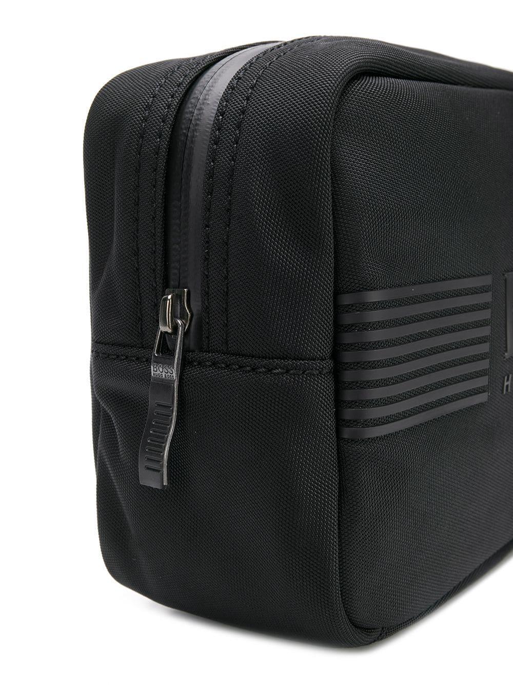 1fddf1c4548e BOSS - Black Logo Wash Bag for Men - Lyst. View fullscreen