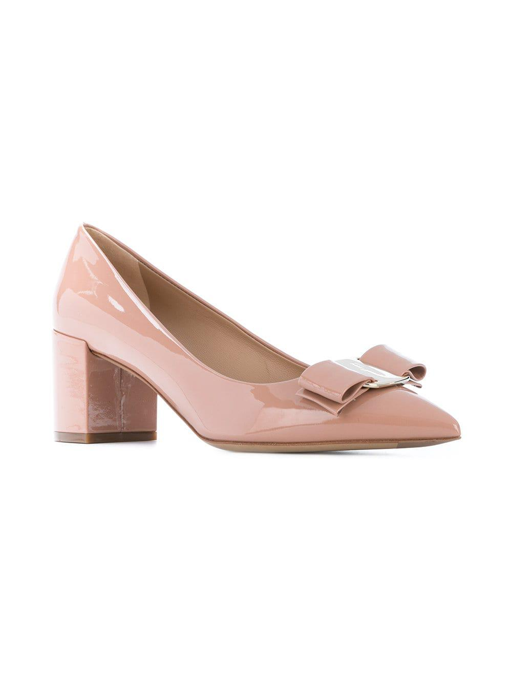 9fb466ee2370 Lyst - Ferragamo Big Vara Pumps in Pink - Save 43%