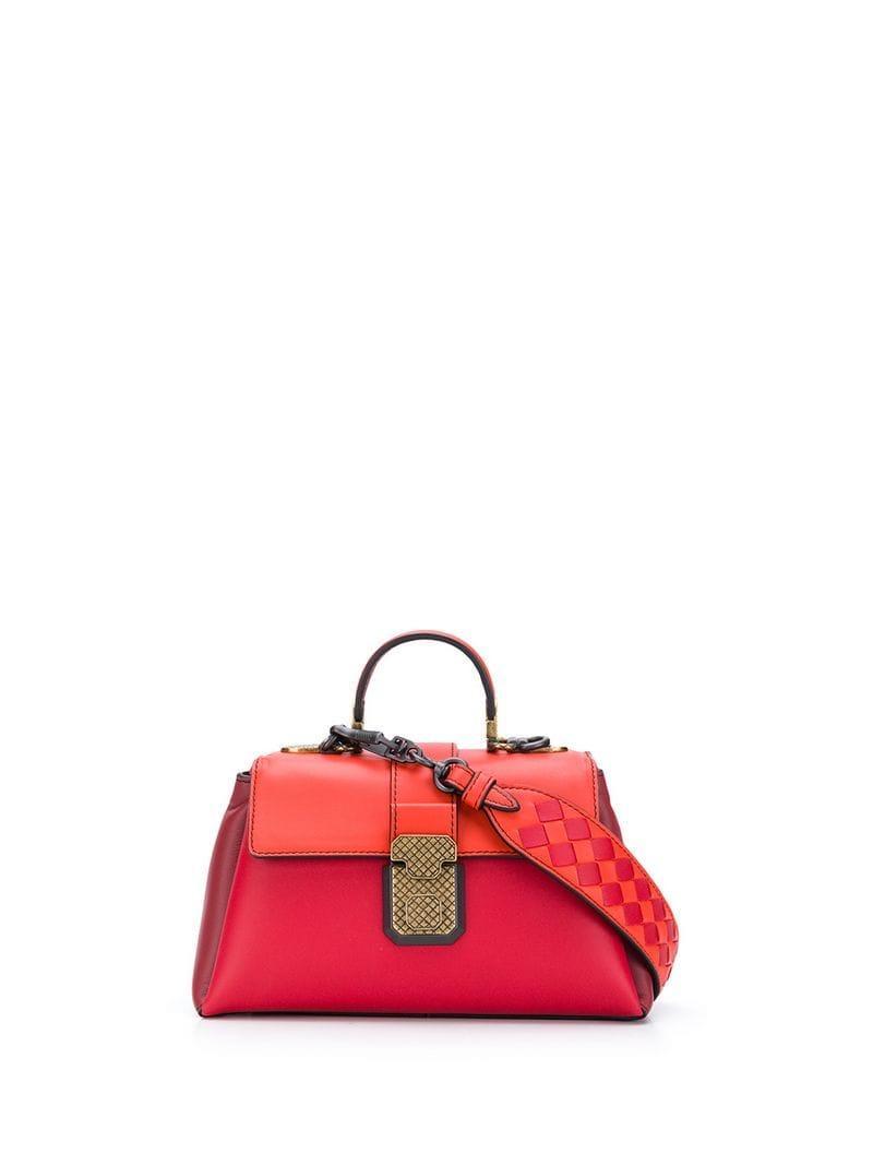 025ec88c0420 Bottega Veneta Mini Piazza Bag in Red - Lyst