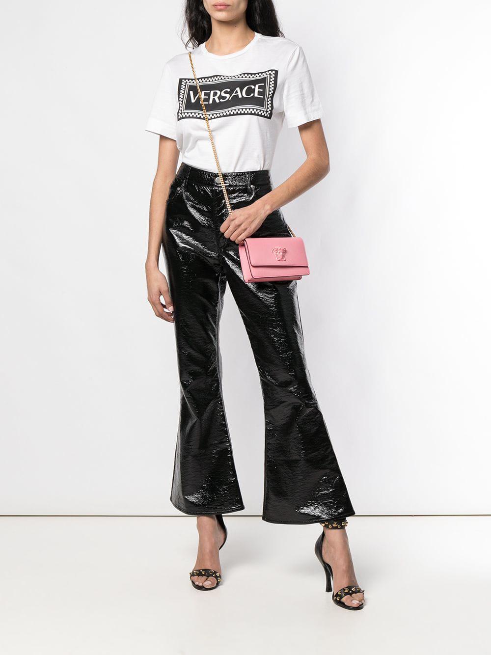 Versace - Pink Medusa Head Clutch Bag - Lyst. View fullscreen cf0a88d139