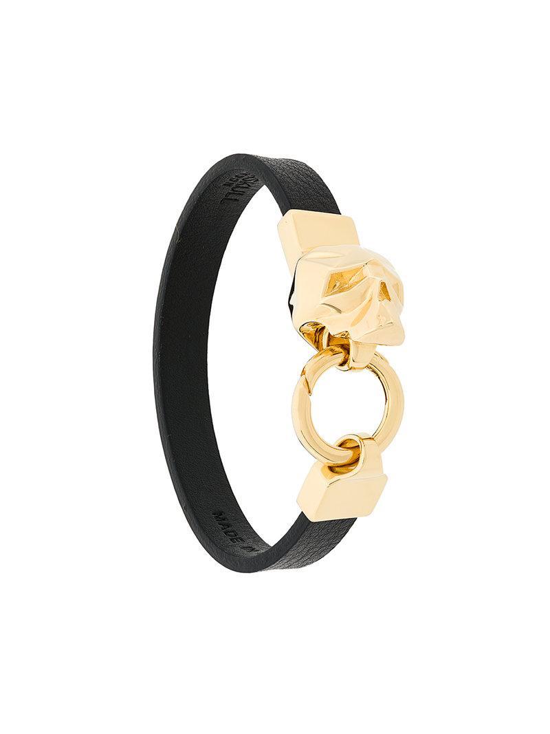 Hexagus Skull bracelet - Black Northskull SJ5T7U