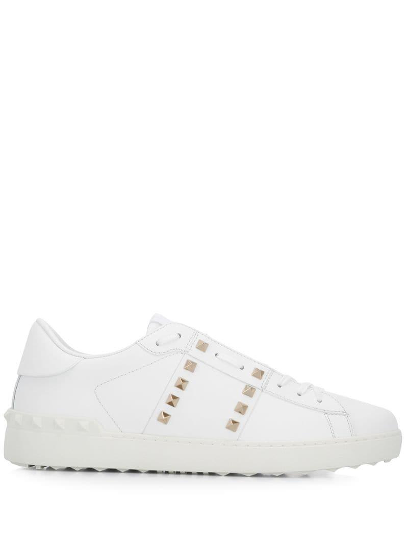 1399a399e Valentino Garavani 11. Rockstud Untitled Sneakers in White for Men ...