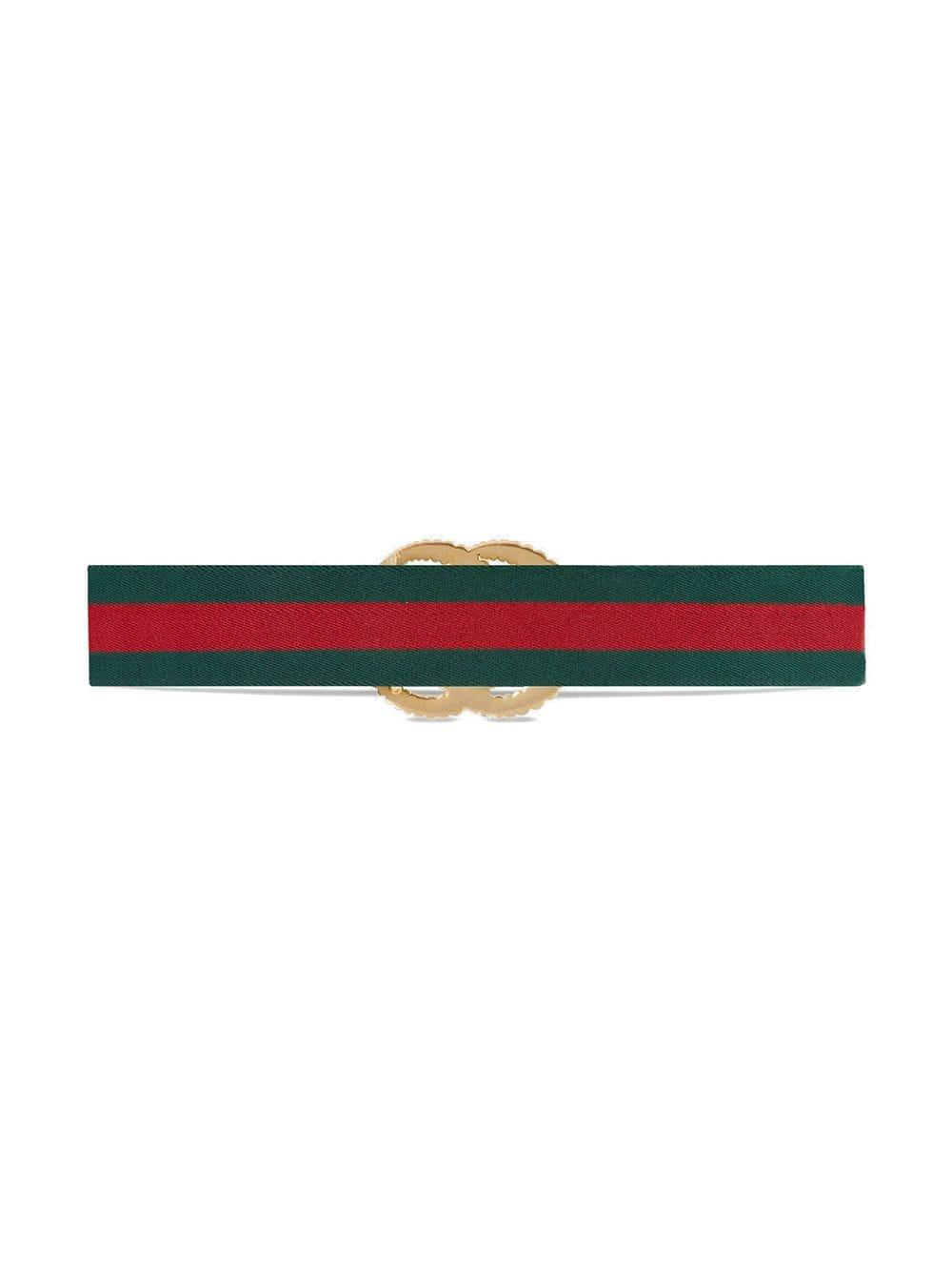 bb24c589e25 Gucci - Green And Red Web Elastic Belt With Torchon Double G Buckle - Lyst.  View fullscreen
