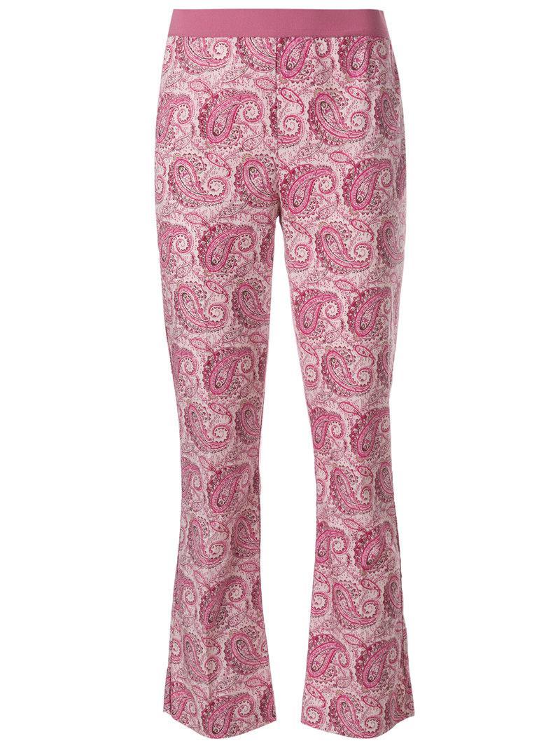 79da436a0c4 Pink Cropped Print Bukser Paisley Twin Purple sett gFtqpWBRc